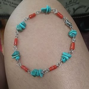 Jewelry - GENUINE TURQUOISE AND RED CORAL